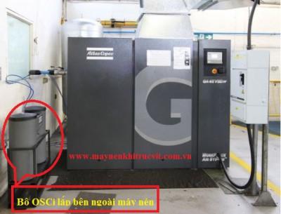 Bảo dưỡng bộ lọc OSCi trong máy nén khí Atlas copco