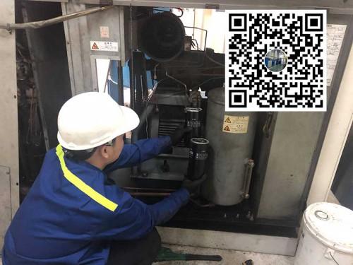 Thay lọc dầu máy nén khí Hitachi- Bảo dưỡng máy nén khí Hitachi