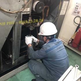Thay tách dầu máy nén khí Hitachi- Bảo dưỡng máy nén khí Hitachi