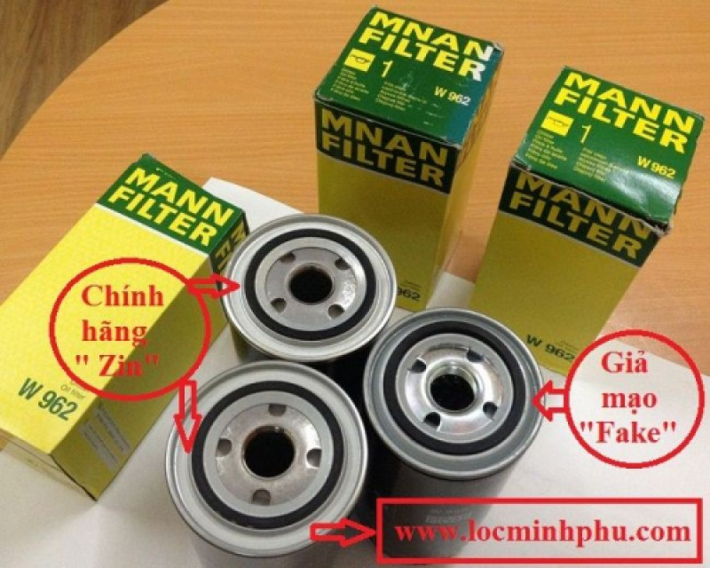 How to distinguish genuine Mann W962 oil filter and fake Mann W962 one