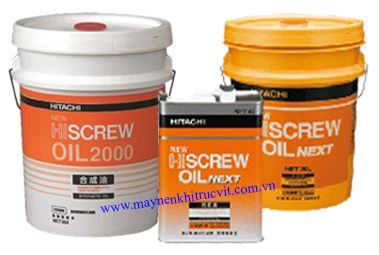 dau may nen khi hitachi, Hiscrew oil next,