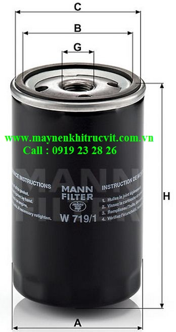 loc dau mann filter w719,Mann  oil filter W719