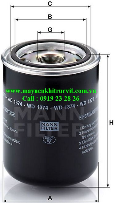 loc dau mann filter wd1374,Mann oil filter  WD1374