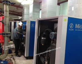 Yujin Micos srew air compressor repair and maintenance